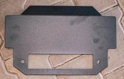 Kennzeichen / Nummern Schild Halterung 380 x 110 mm Aluminium beschichtet