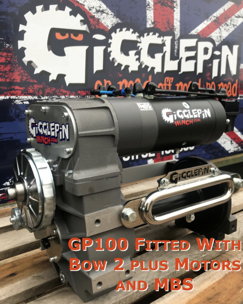 Gigglepin - GP100 Seilwinde 12V Twin Motor Competition Winch