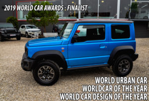 Blauer Suzuki Jimny Finalist bei den 2019 World Car Awards